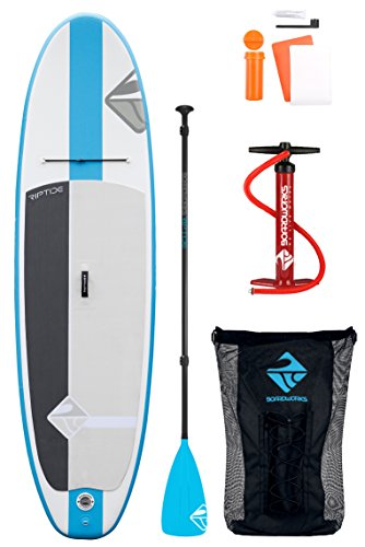 Boardworks SHUBU Riptide Inflatable Stand Up Paddleboard iSUP Includes Backpack Pump and Paddle, 10'6""
