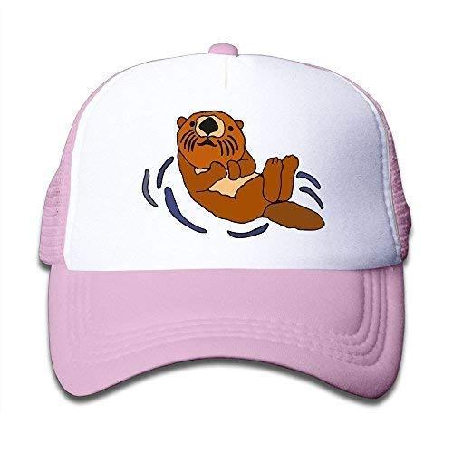 UMarsDeal Youth Boy and Girls Baseball Hat,Floating Sea Otter Air Mesh Hats Sports Snapback Caps ()