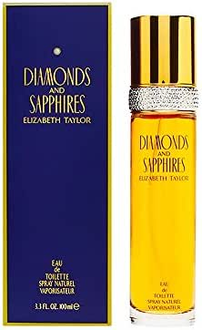Diamonds and Sapphires by Elizabeth Taylor for Women, Eau De Toilette Spray, 3.3-Ounce