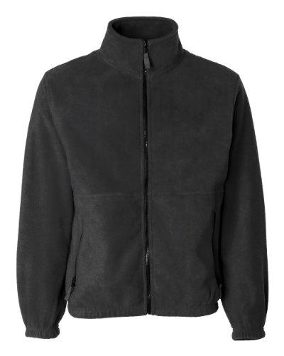 Sierra Pacific Adult Anti-Pill Fleece Full-Zip Jacket (Charcoal) (Nylon Full Zip Jacket)