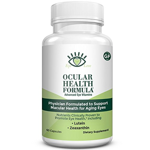 AREDS 2 Formula, Packed with Lutein, Zeaxanthin, and Astaxanthin, Ocular Health Formula by Eye Love, Optometrist Developed to Follow AREDS-2, Complete Macula and Retina Support (30 Day - Sunglasses Health Best For Eye