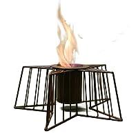 Feuerkorb klein silber Fire Basket ✔ eckig