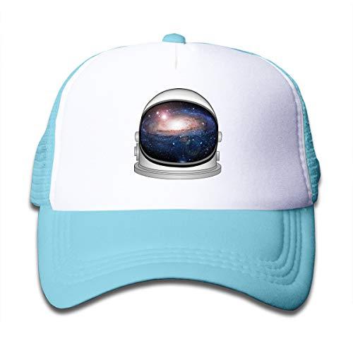 Rhfjgk Ldjg Astronaut Helmet Mesh Caps Baseball Trucker Hat Adjustable for Kids Sky Blue