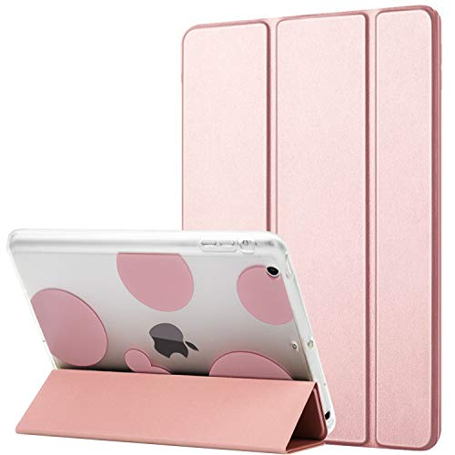 Dailylux iPad Mini Case,ipad Mini 2 Case, ipad Mini 3 Case, Smart Folio Stand Cover Ultra Slim Light Shockproof TPU + Hard PC Romantic Bubble w/Auto Sleep/Wake Function for ipad Mini 1/2/3-Rose Gold