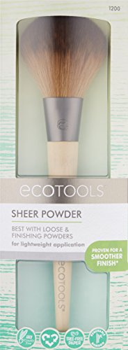 EcoTools Large Powder Brush, Made with Recycled and Sustainable Materials, Cruelty Free Synthetic Taklon Bristles, Aluminum Ferrule, Recycled Packaging