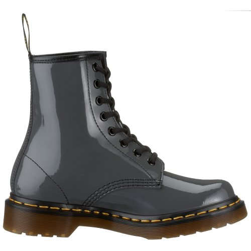 Dr. Martens 1460 W Patent Lamper, Boots femme Gris (Grey)