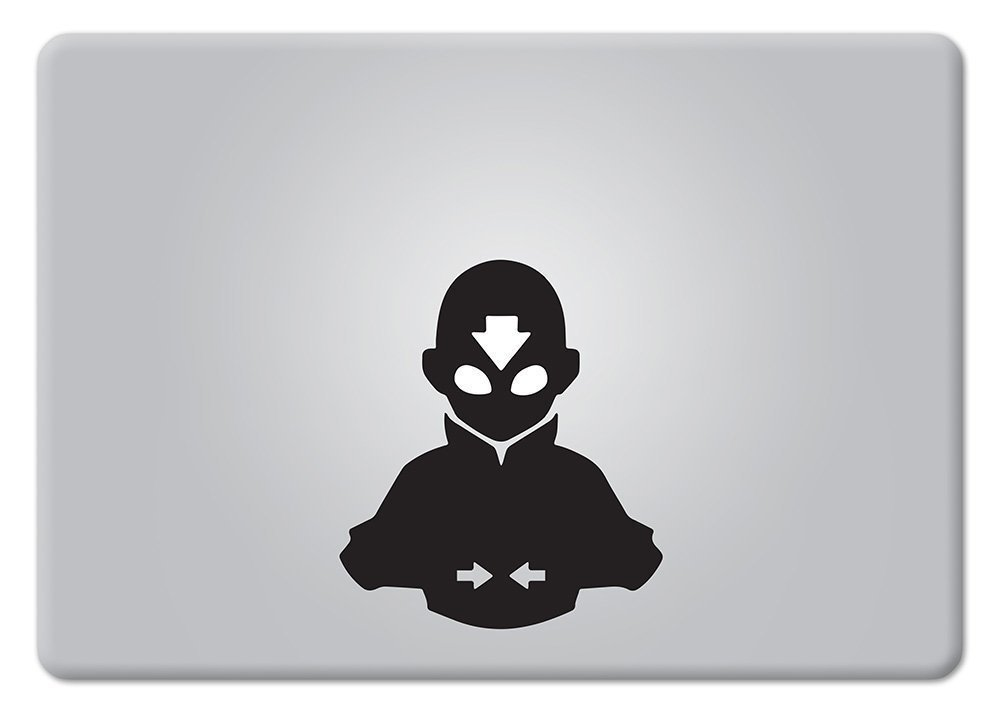 Amazon com avatar the last airbender aangs avatar state2 apple macbook decal vinyl sticker apple mac air pro retina laptop sticker computers