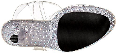 Pleaser transparent C 708 Plataforma Mujer Sandalias Con Transparente Stardance m Para qpwqOS