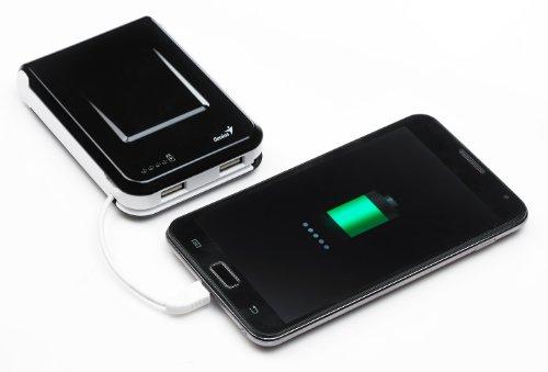 Genius ECO u1000 Powerbank External convenient battery 10400 mAh Black External Battery Packs