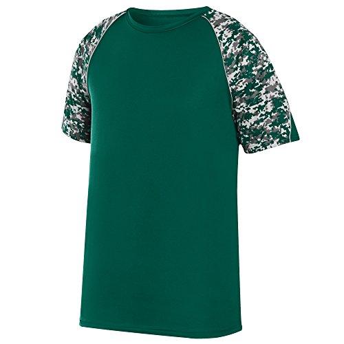 (Augusta Sportswear Men's Color Block Digi Camo Jersey, Dark Green/Dark Green Digi/Silver,)