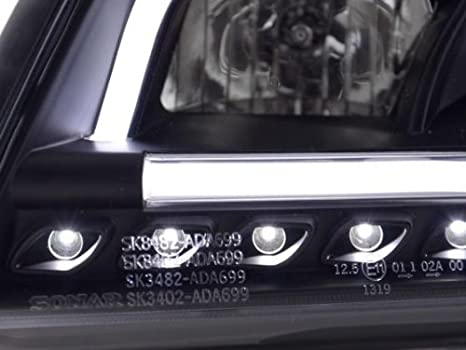 Scheinwerfer Daylight Audi A6 Typ 4B Bj 97-01 schwarz