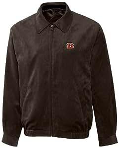 NFL Cincinnati Bengals Men's Micro Suede City Bomber Jacket, Large, Bittersweet