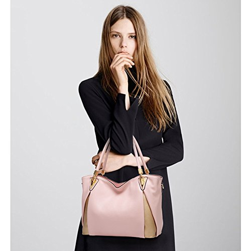 Girls Handle Pink Women SiYuan Bag Handbags Office Lady Leather Crossbody Shoulder Top For For Bag PqqxF68w