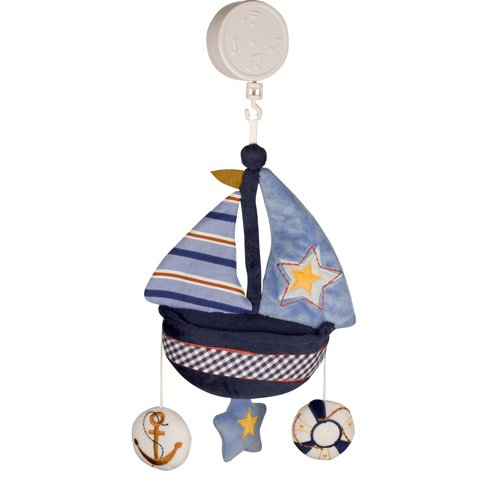 Bedtime Originals Sail Away Musical Mobile (Sailboat Crib Mobile compare prices)