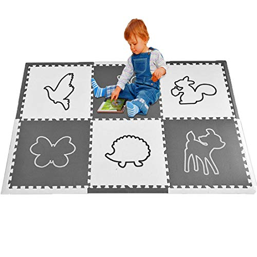 Ladybirds Extra Large Baby Play Mat Tiles 74 x 54 Non Toxic Foam Play Mat Foam Puzzle Play Mat for Babies, Safe Soft Foam Mats for Toddlers Infants Interlocking Foam Play Mats for Nursery