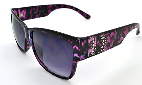 VOX Trendy Classic Womens Hot Fashion Sunglasses w/FREE Microfiber Pouch - Purple Frame - Smoke - Purple Wayfarers