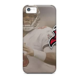 MMZ DIY PHONE CASEAnti-Scratch Cell-phone Hard Cover For iphone 6 plus 5.5 inch (ksB1290PLZJ) Allow Personal Design High Resolution Tampa Bay Buccaneers Pattern