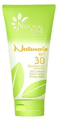 Naturals by Natural Tone. SPF30 Broad Spectrum 100% Natural Sunscreen 3.4oz Tube Natural Biodegradable Sunscreen