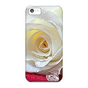 XiFu*MeiIdeal Mycase88 Cases Covers For iphone 4/4s(white Rose Drops), Protective Stylish CasesXiFu*Mei