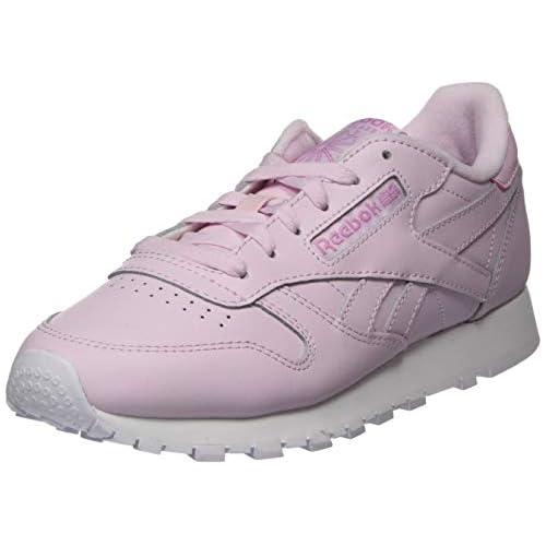 chollos oferta descuentos barato Reebok CL LTHR Gymnastics Shoe Womens Pixel Pink White Jasmine Pink 36 EU