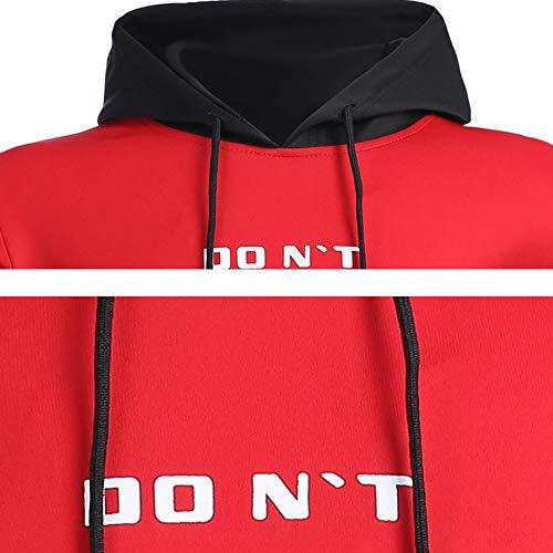 Blouse Manches Homme Blousons Print Shirt Longue T Chapuche shirt Homme Osyard À Sport Sweatshirt Chemisier Rouge Tops Sweat Hoodie Don`t BqwU55vxa