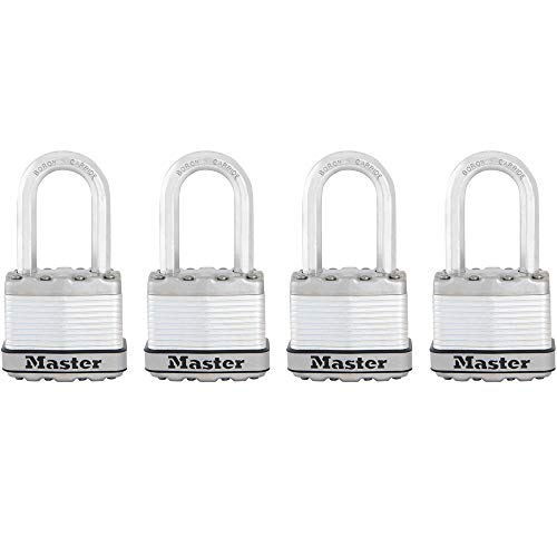 Master Lock Padlock, Magnum Laminated Steel Lock, 1-3/4 in. Wide, M1XQLF (Pack of 4-Keyed Alike) ()