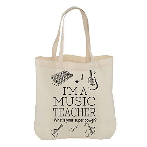 Tote tote Your Bags Term music a Teacher What's Present Cotton Natural gift HirosI'm you Superpower teacher Teacher Gift bag Gift Appreciation Thank Teacher Thank idea End you unique Shopping of H70IHq