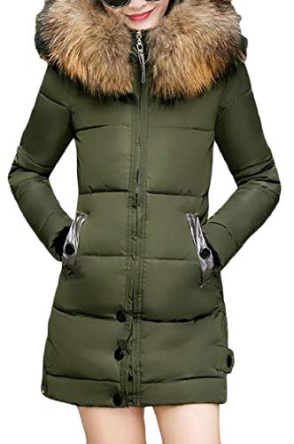 XQS Women's Parka Winter Faux Fur Hoodie Overcoat Padded for sale  Delivered anywhere in USA