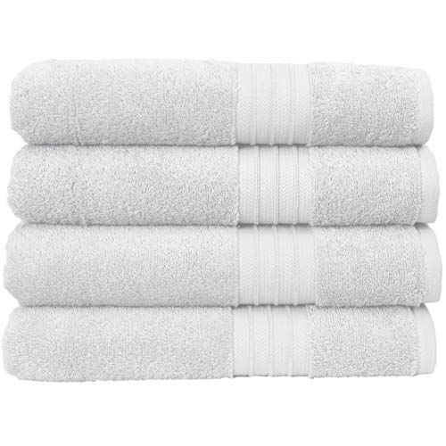 Hammam Linen Ultra Soft Turkish Bath Towels – (27 x 52 inches) – Towel Set – 100% Cotton Towels (White)