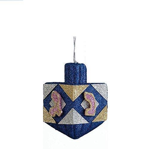 Shulsinger Judaica Rite Lite Hanukkah Dreidel Glitter Decoration - 1/pkg.