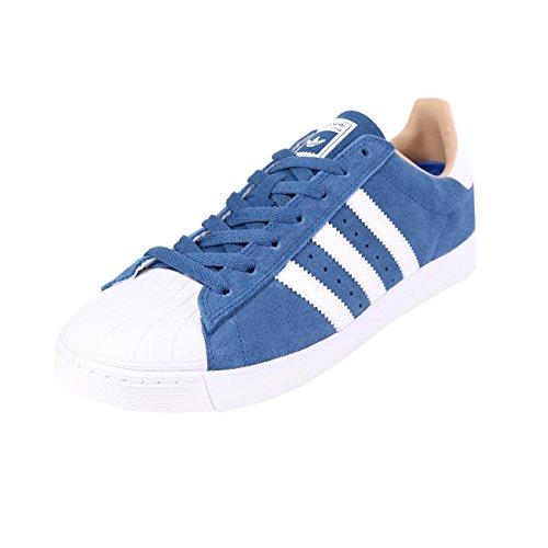 adidas Superstar Vulc ADV Blue White Gold Blue