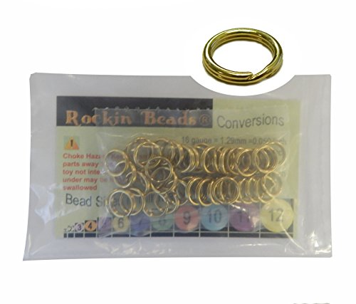 - 48 Split Ring Fishing Lure, Lanyard, Dog Tag Connector Polished Brass 10mm Made in the USA