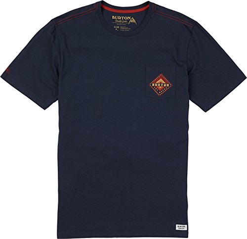 - Burton Anchor Point Short Sleeve Tee, Mood Indigo, Large