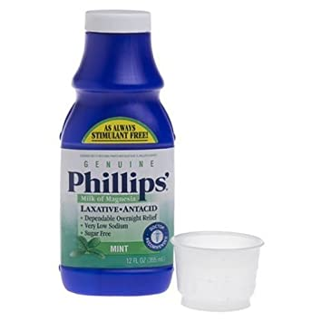 Phillips Milk of Magnesia Mint 12 oz. (Pack of 6)