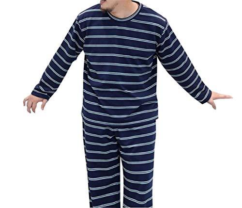 Sólido Ropa Para Pijama Dos Gran Manga Color A El Larga Conjunto Tamaño Pijamas Loungewear Colour Piezas Rayas Hogar Chicos Clásico De Hombres qOaYUtn