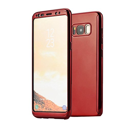 Price comparison product image For Samsung Galaxy S8 / S8 Plus, Iusun Ultra Thin Case Protective Cover + Free Screen Protector Film (Red, Samsung Galaxy S8)