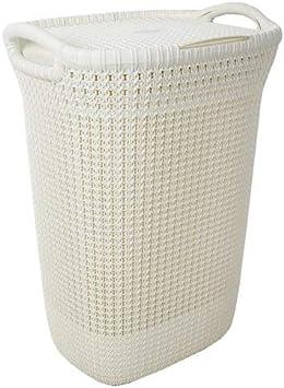 Curver 228391 - Cesta de ropa Knit, 57 L, 43.2 x 32.1 x 59.4 cm ...