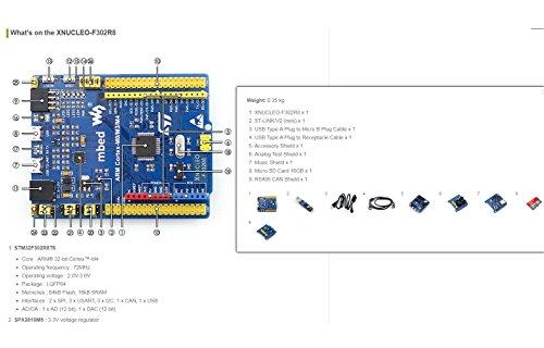 Waveshare STM32 Board XNUCLEO-F302RB Development Kit Supports