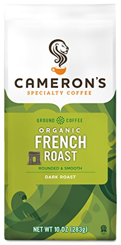 Cameron's Coffee Roasted Ground Coffee Bag, Organic French Roast, 10 - Ground Organic