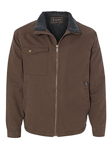 Endeavor Full Zip Jacket (Dri Duck Endeavor Canvas Work Jacket with Sherpa Lining. 5037 Tobacco L)