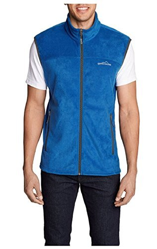 - Eddie Bauer Men's Quest 200 Fleece Vest True Blue Small