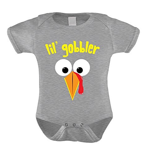 Gray Boat Gravy (HAASE UNLIMITED Lil' Gobbler Infant Bodysuit (Light Gray, 6 Months))