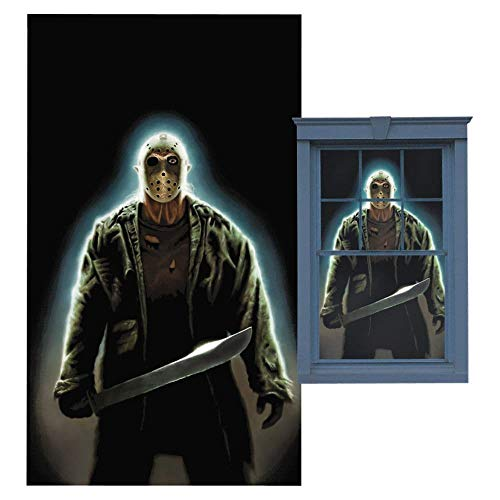 WOWindow Posters Jason Voorhees Friday the 13th Halloween Window Decoration includes 34.5