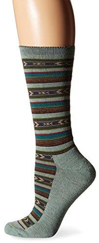 Goodhew Women's Cabin Fair Isle Socks, Celadon, Small/Medium