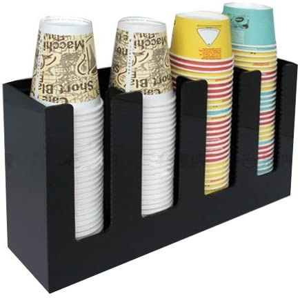4 Sl Cup Lid Holder Dispenser Organizer Coffee Cup Caddy Organize Your Coffee Counter with Style (6006)