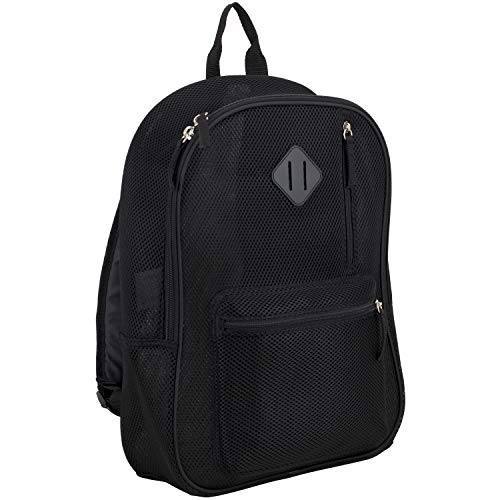Eastsport Active Semi Transparent Soft Comfortable Mesh Backpack, Black