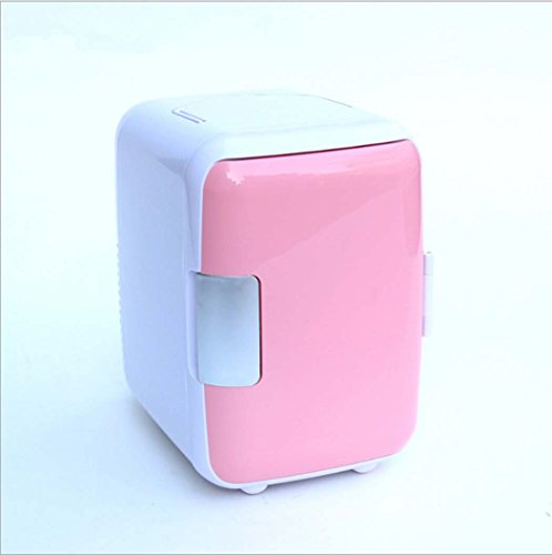 DSHBB Car Fridge Mini,car Fridge Freeze , Travel, Picnic, Camping Outdoor Use (Color : Pink) by DSHBB