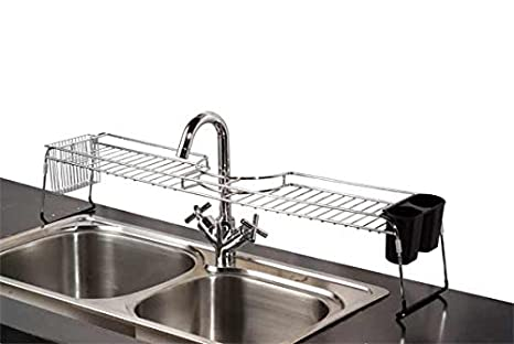 Home Basics Over The Sink Chrome Shelf