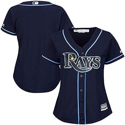 Tampa Bay Rays MLB Women's Plus Size Cool Base Alternate Jersey Navy (Plus 4X)