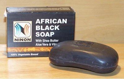 NINON African Black Soap with Shea Butter Aloe Vera & Vitamin E - 6 Pack